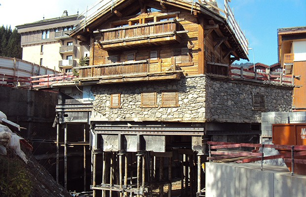 Soutènement - Chalet Tahoe à Courchevel 1850